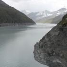 Barrage de la Grande-Dixence: le lac des Dix