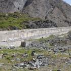 L'ancienne crémaillère qui servait aux grues durant les travaux