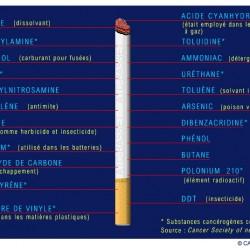 """Substances toxiques dans cigarette """"normale"""""""